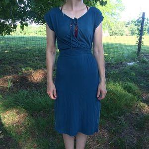 C&C California teal blue dress